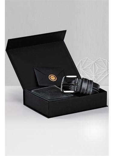 Deri Company Sevgiliye Premium Hediye Set 119505 Siyah